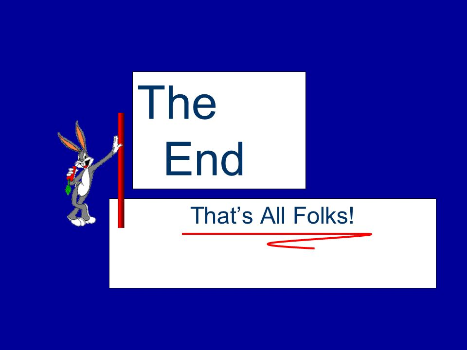 The End That's All Folks!