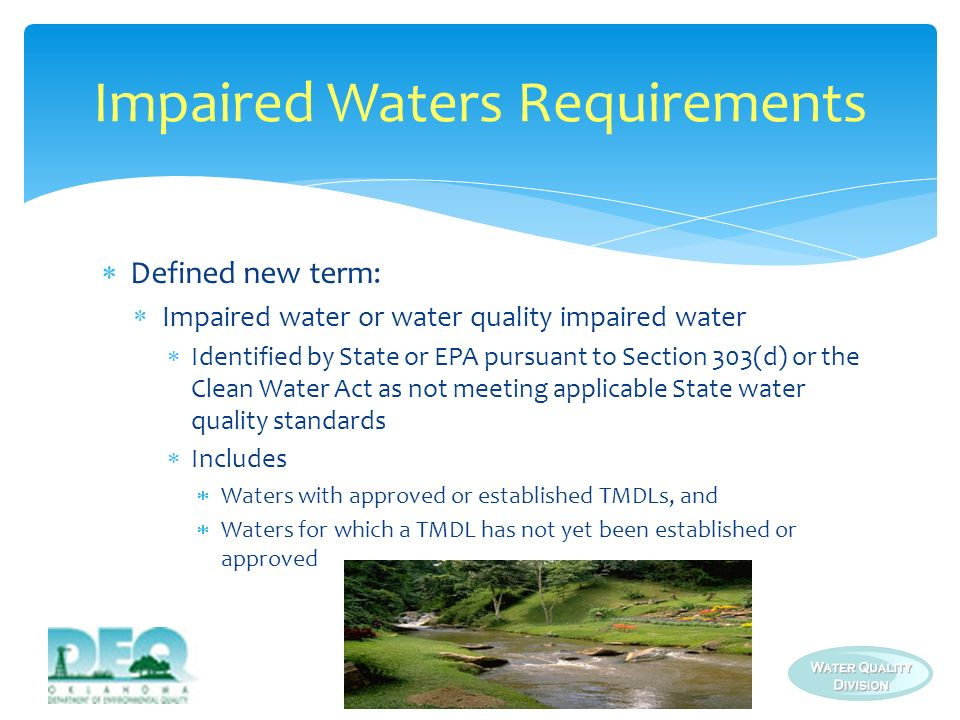 Impaired Waters Requirements