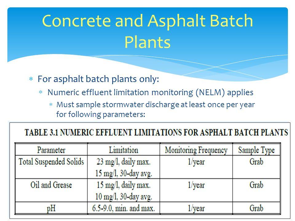 Concrete and Asphalt Batch Plants