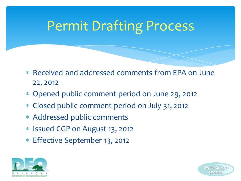 Permit Drafting Process