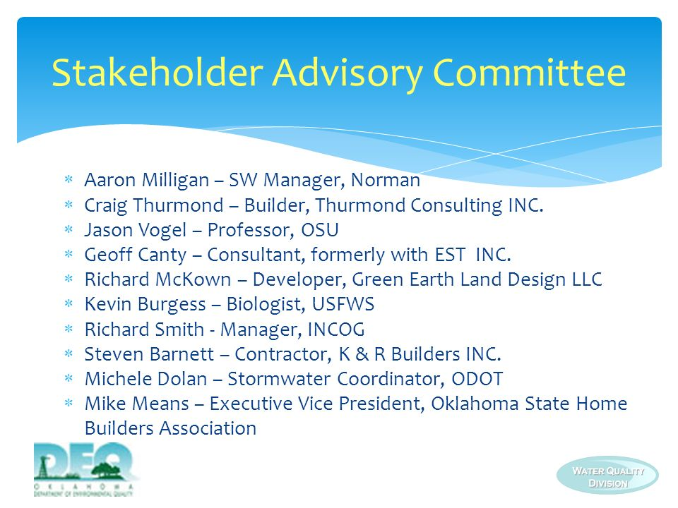 Stakeholder Advisory Committee