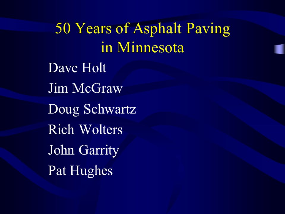 50 Years of Asphalt Paving in Minnesota