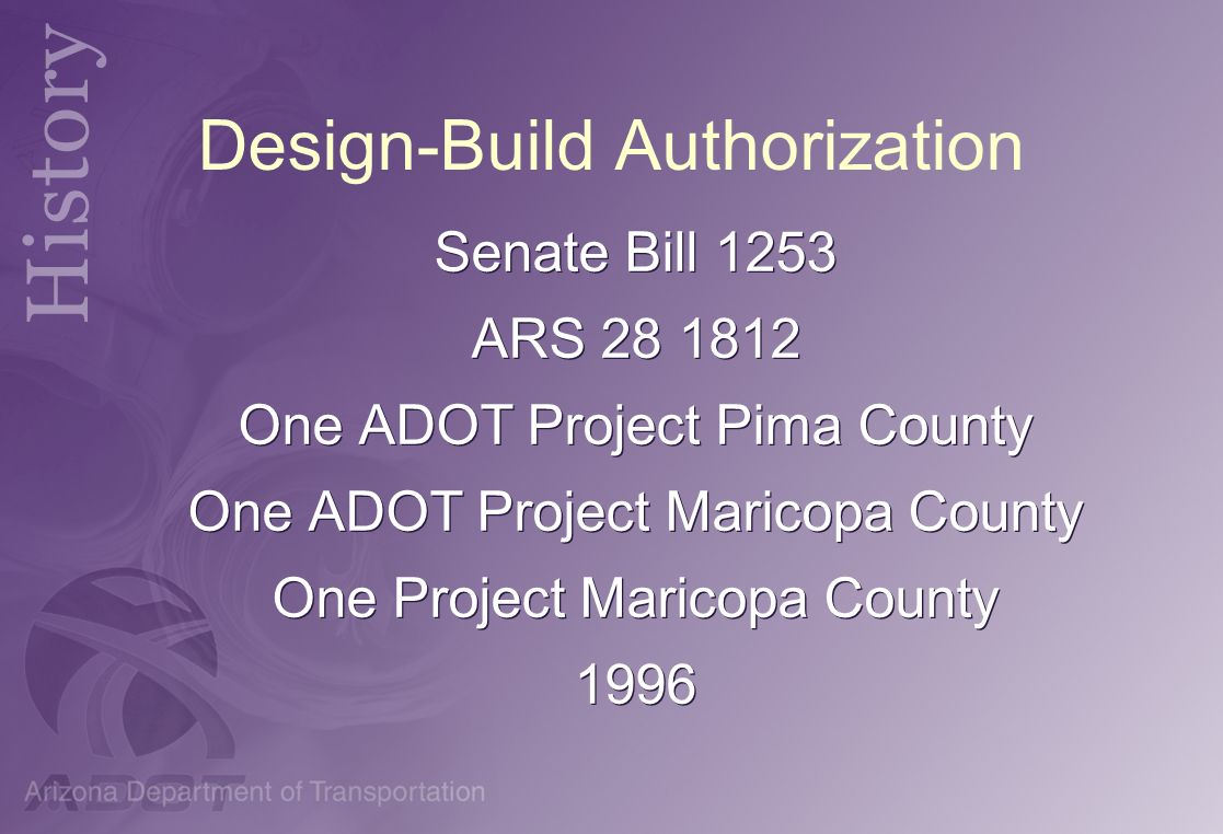 Design-Build Authorization