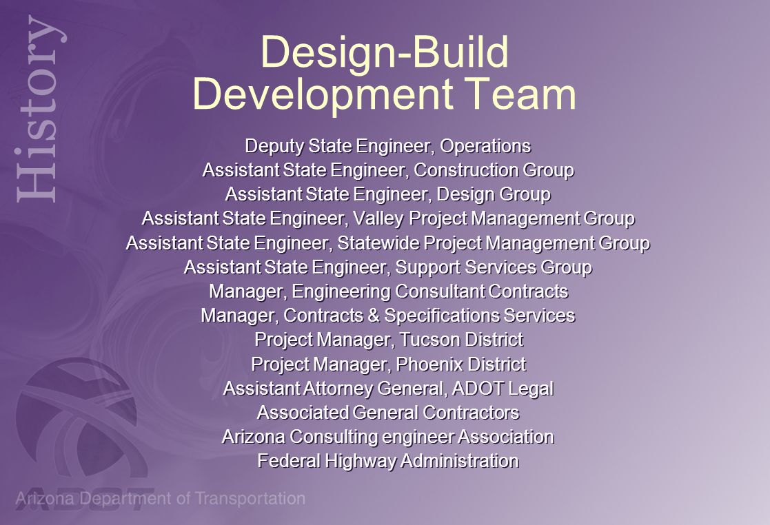 Design-Build Development Team