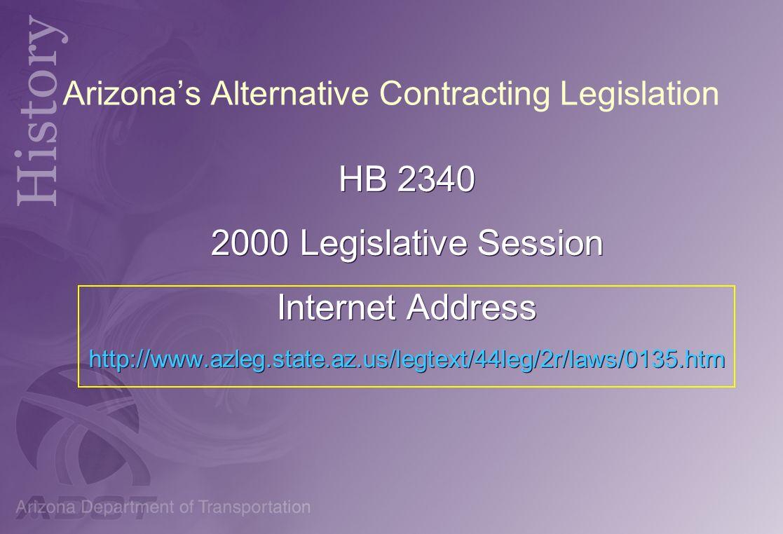 Arizona's Alternative Contracting Legislation