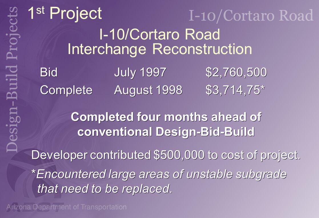 I-10/Cortaro Road Interchange Reconstruction