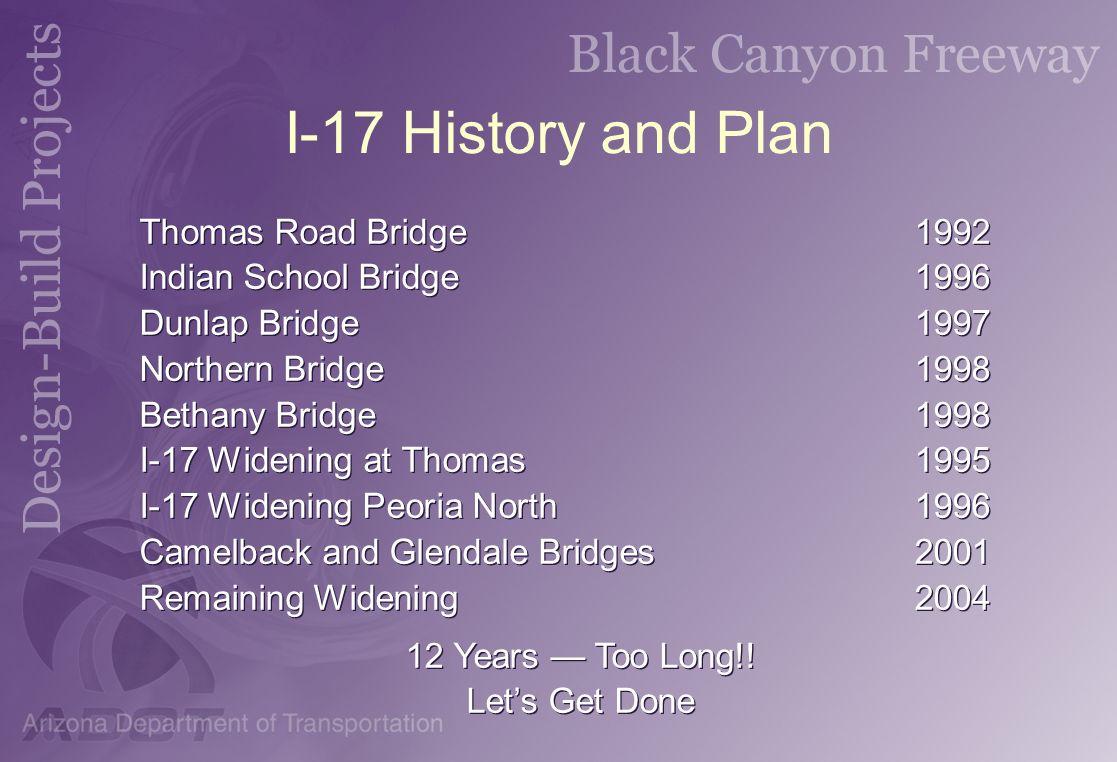 I-17 History and Plan Thomas Road Bridge 1992
