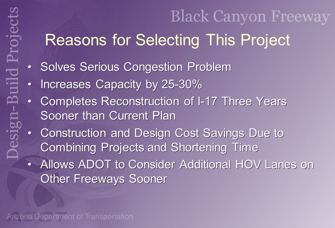Reasons for Selecting This Project