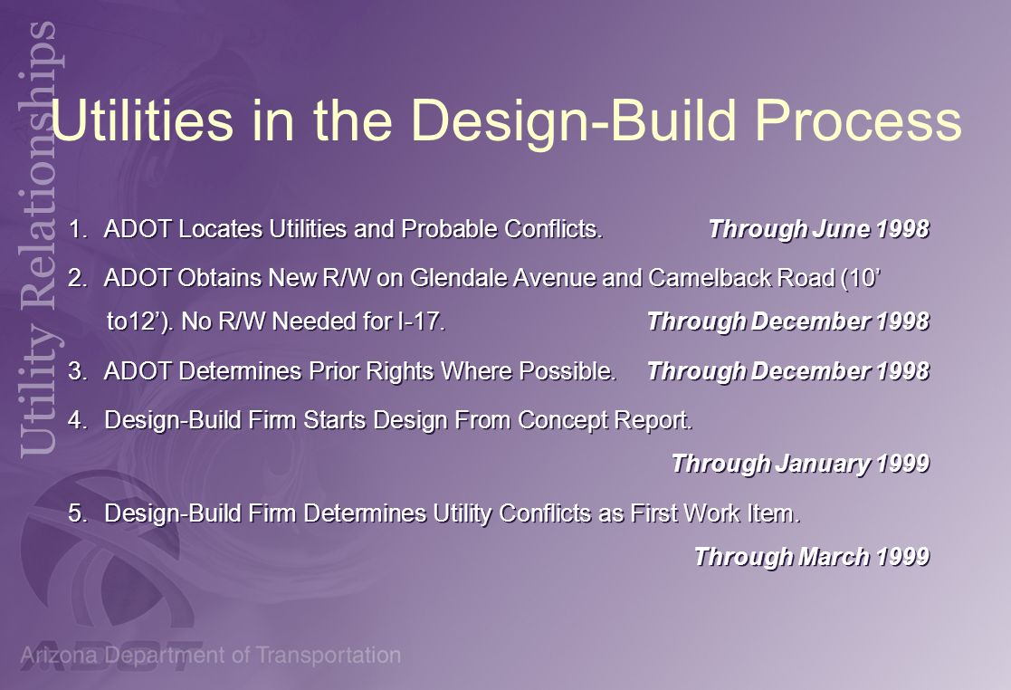 Utilities in the Design-Build Process