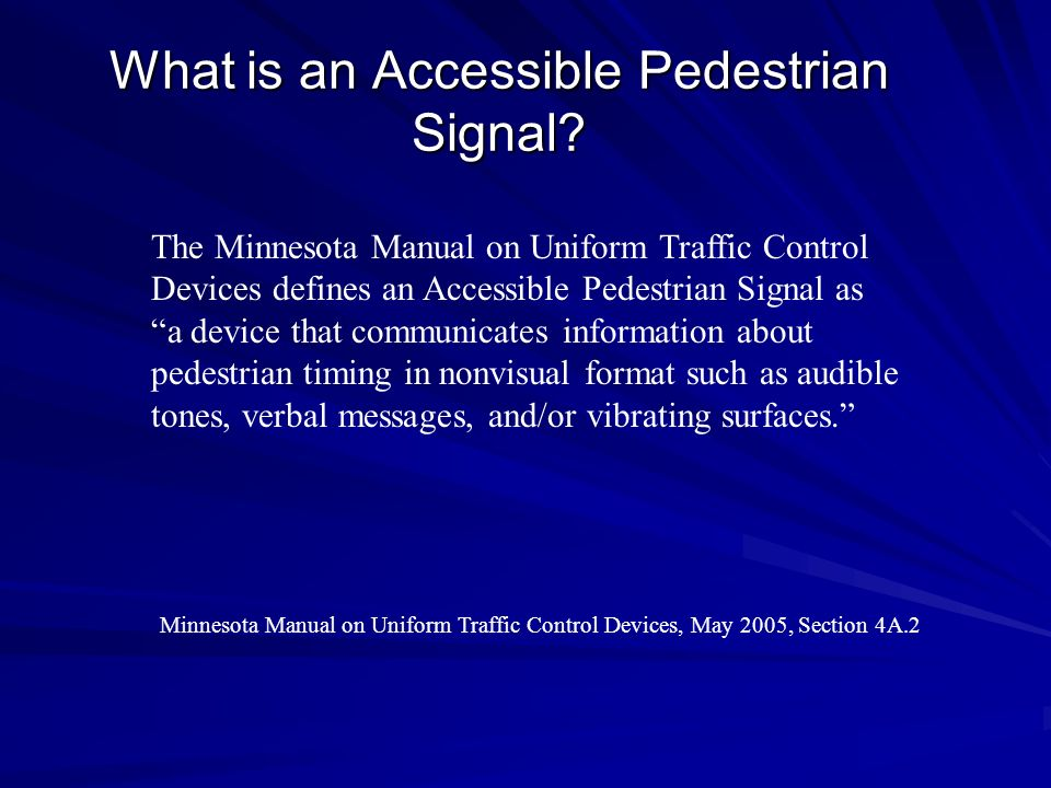 What is an Accessible Pedestrian Signal
