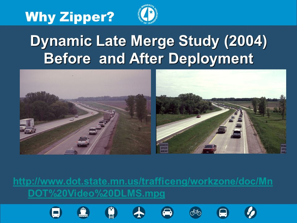 Dynamic Late Merge Study (2004) Before and After Deployment