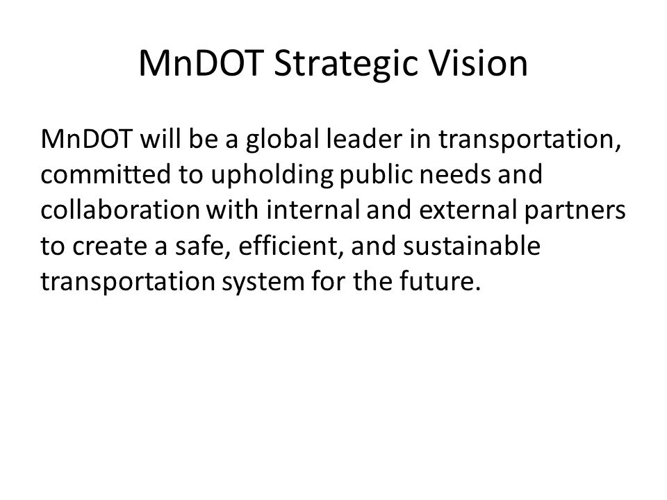 MnDOT Strategic Vision