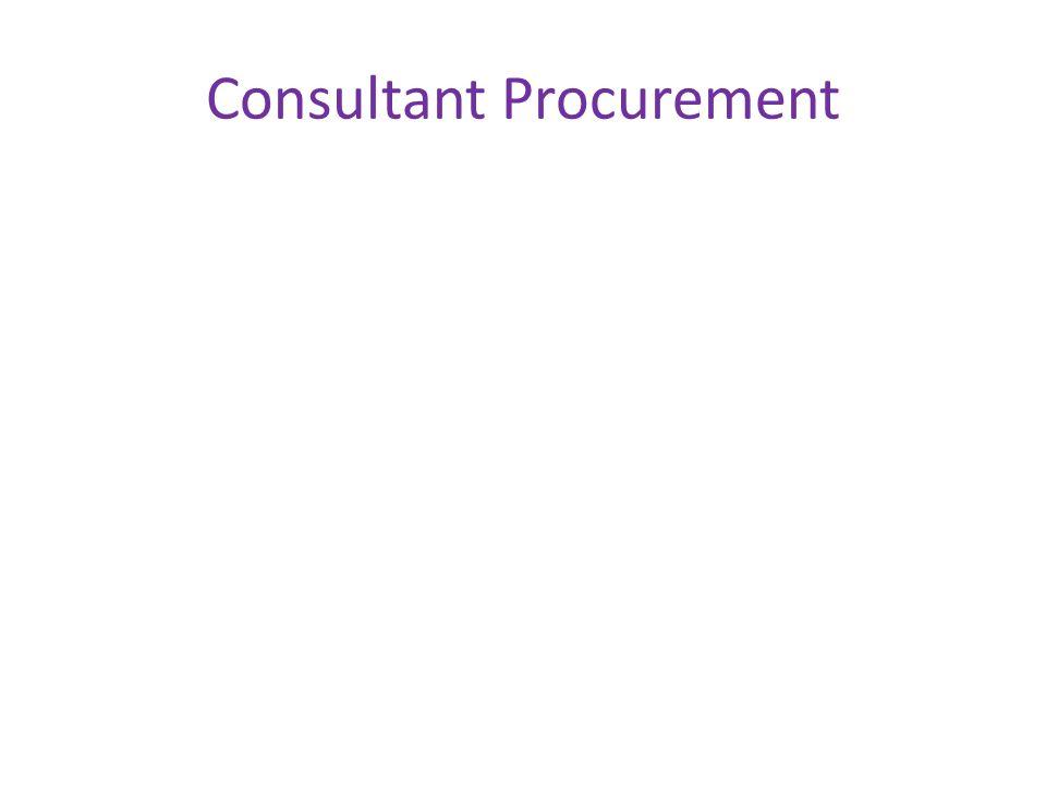 Consultant Procurement