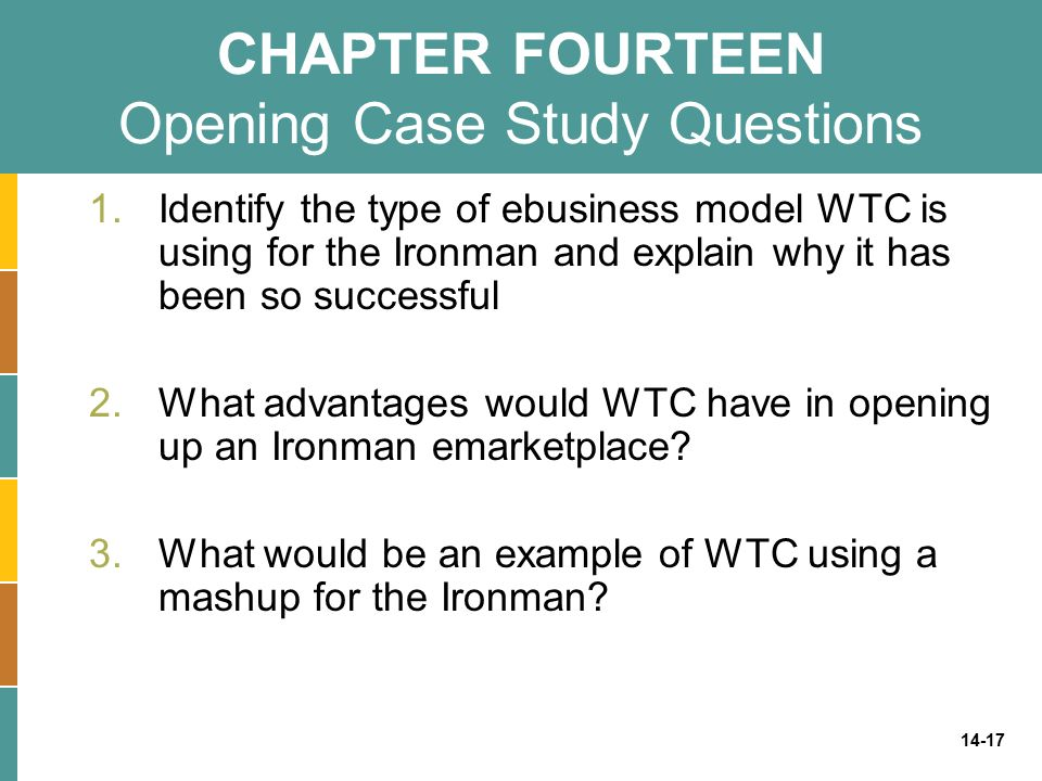 CHAPTER FOURTEEN Opening Case Study Questions