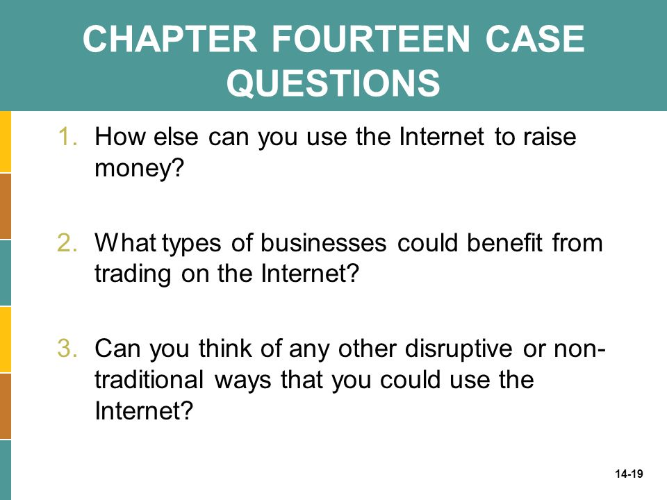 CHAPTER FOURTEEN CASE QUESTIONS