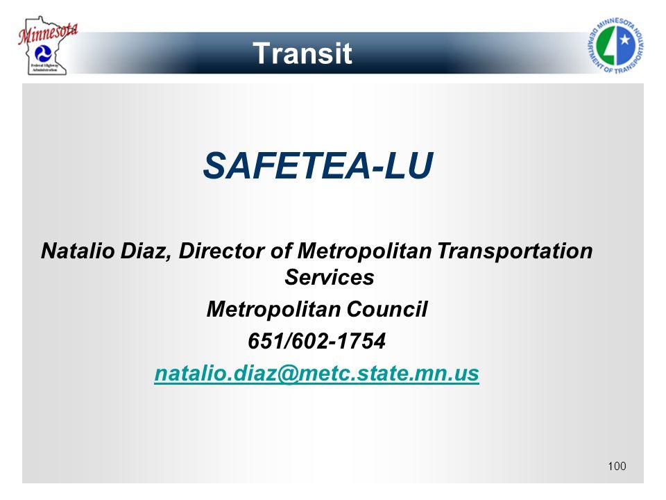 Natalio Diaz, Director of Metropolitan Transportation Services