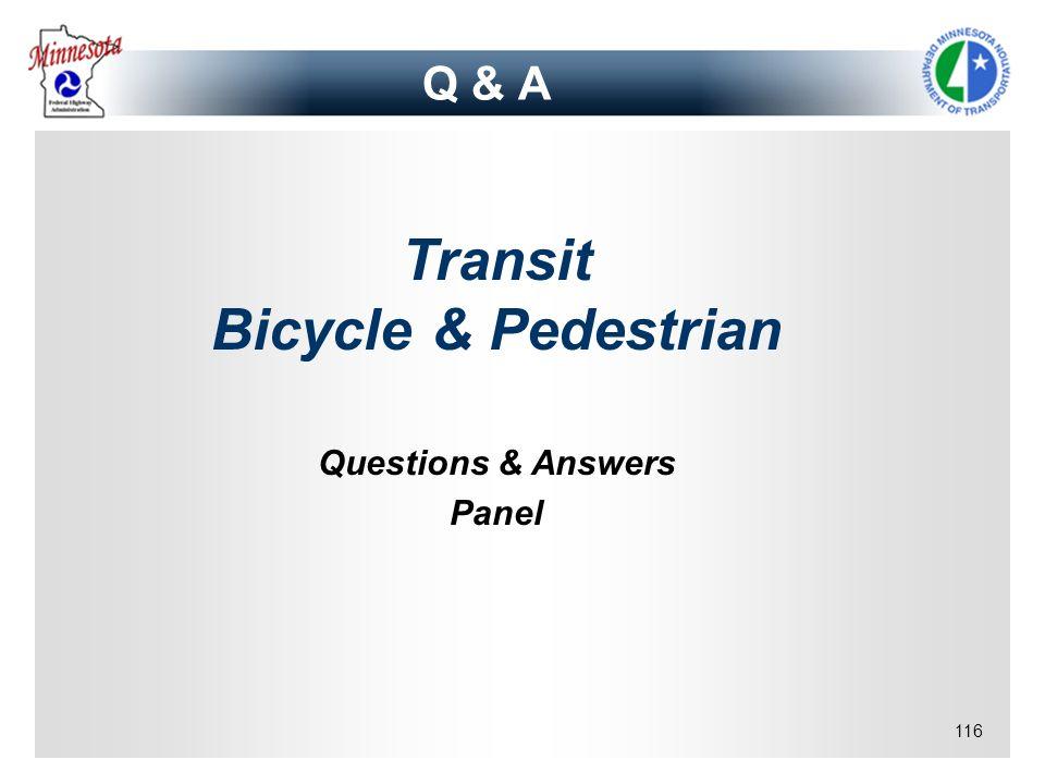 Transit Bicycle & Pedestrian