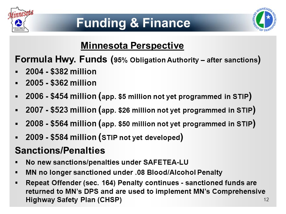 Funding & Finance Minnesota Perspective