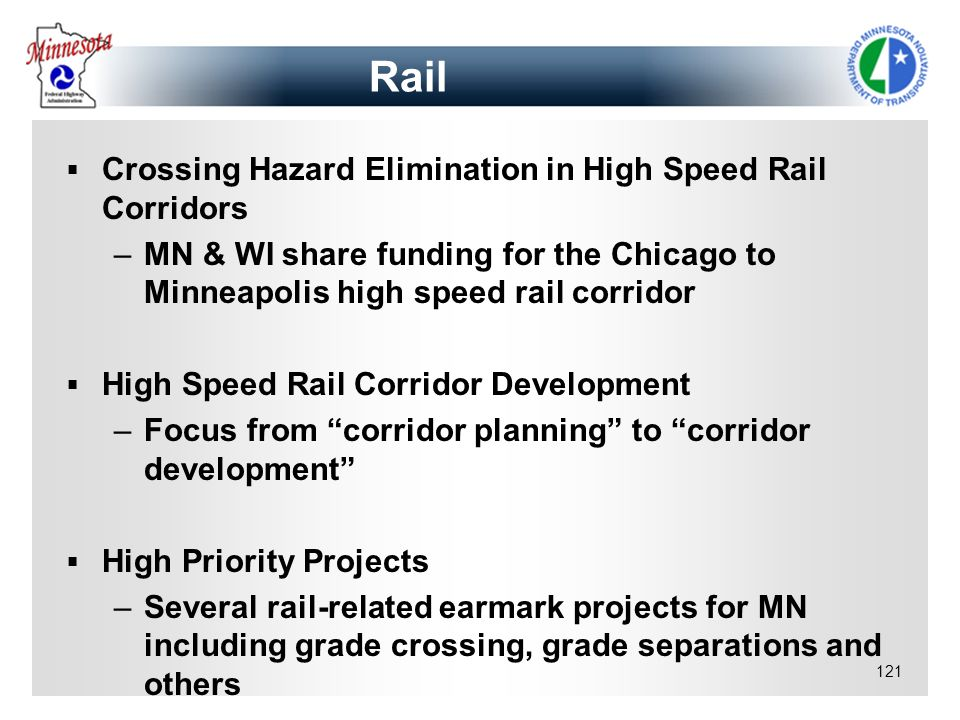 Rail Crossing Hazard Elimination in High Speed Rail Corridors