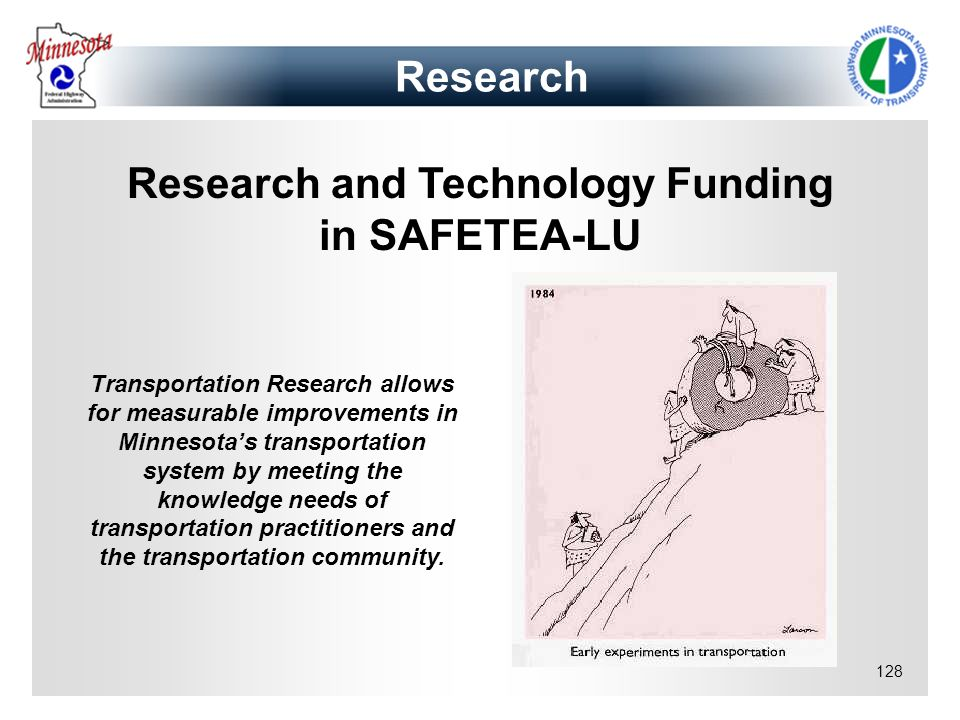 Research and Technology Funding in SAFETEA-LU