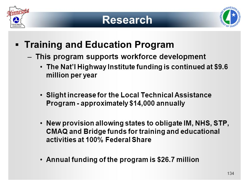 Research Training and Education Program