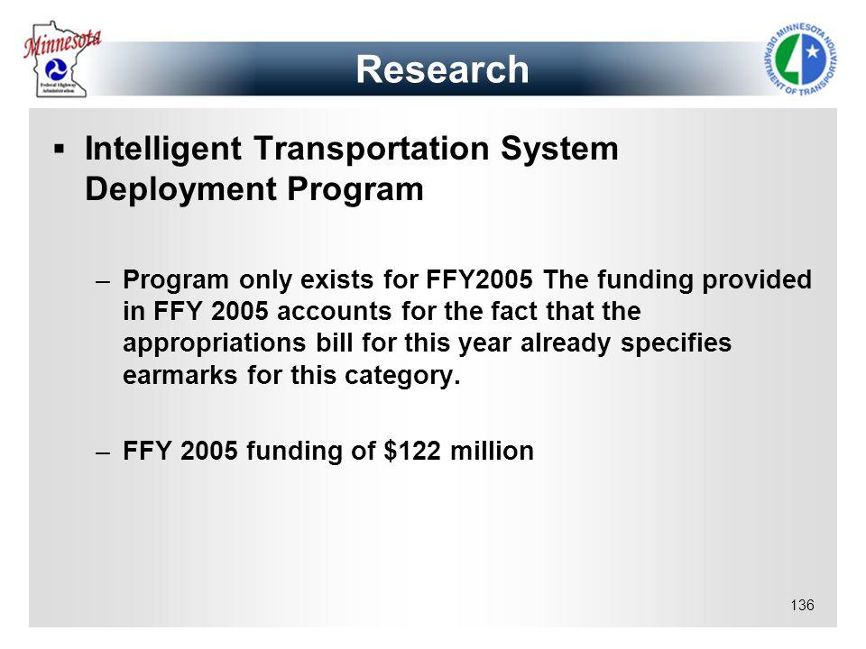 Research Intelligent Transportation System Deployment Program