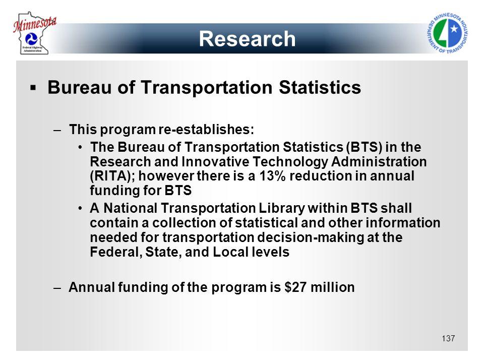 Research Bureau of Transportation Statistics