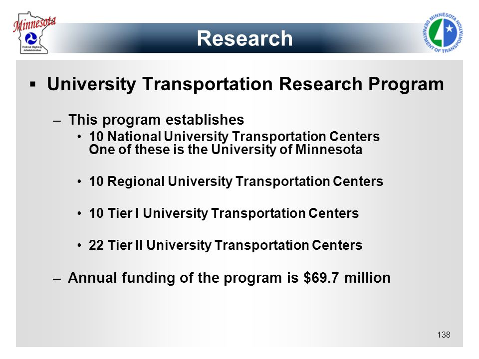 Research University Transportation Research Program
