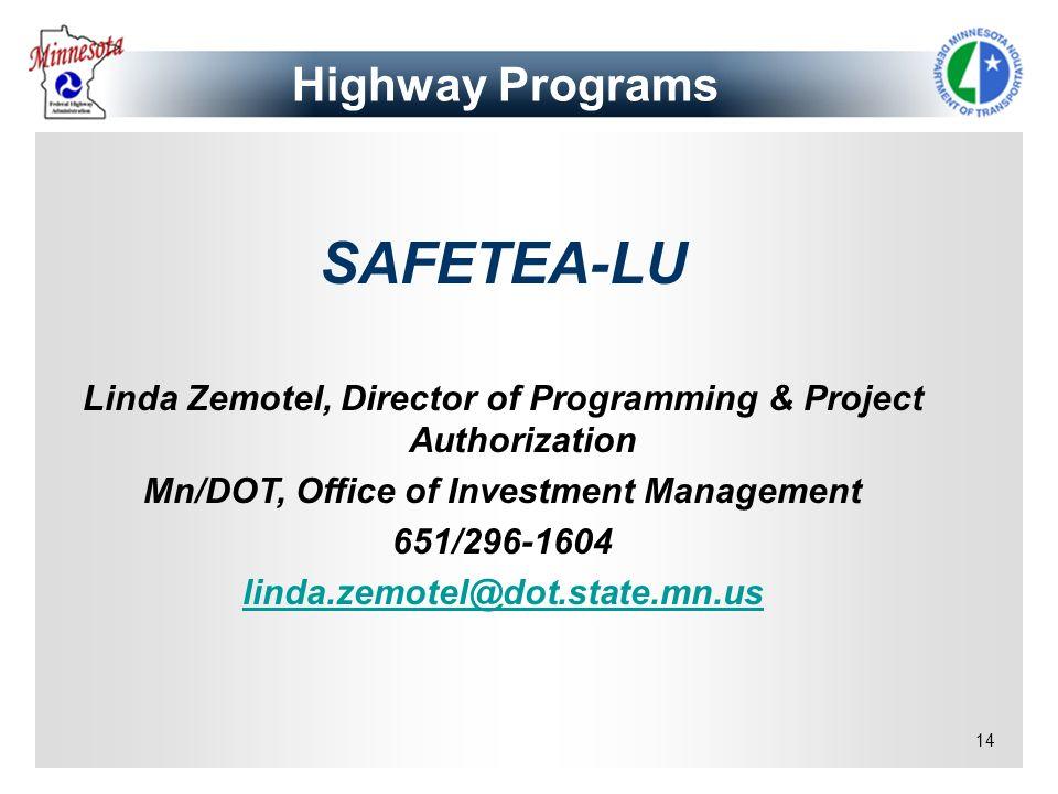 SAFETEA-LU Highway Programs