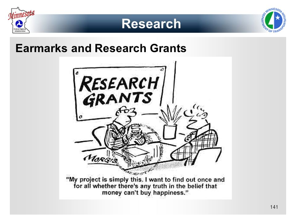 Earmarks and Research Grants