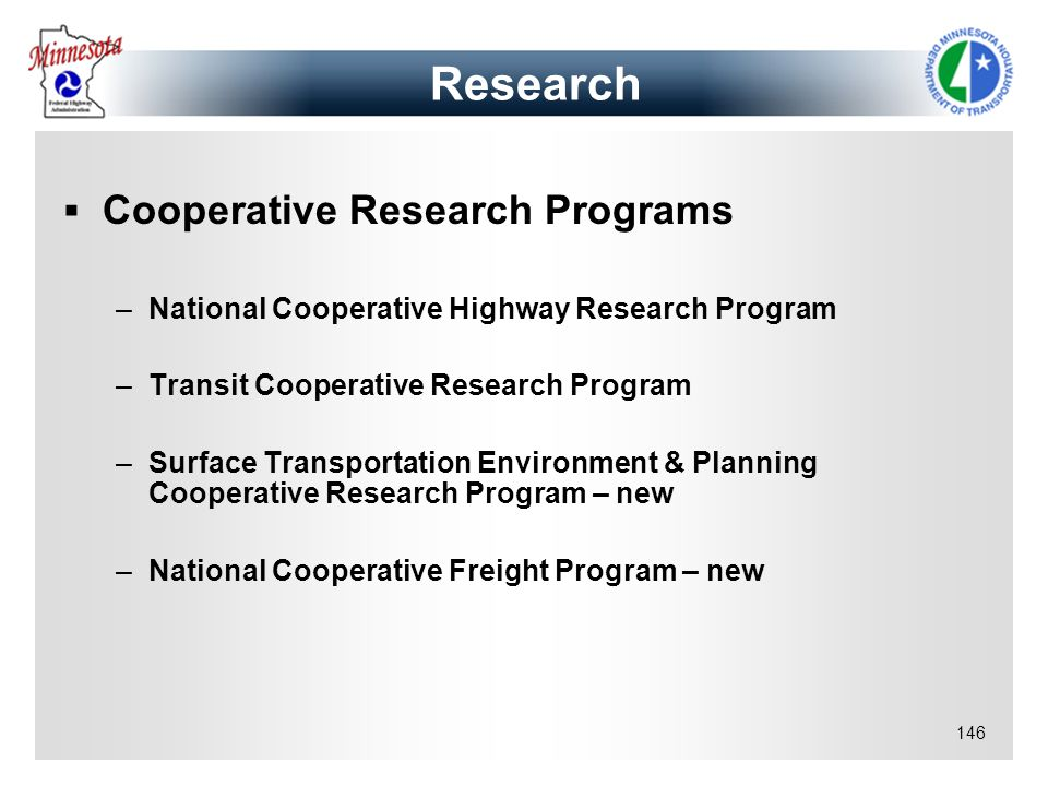 Research Cooperative Research Programs