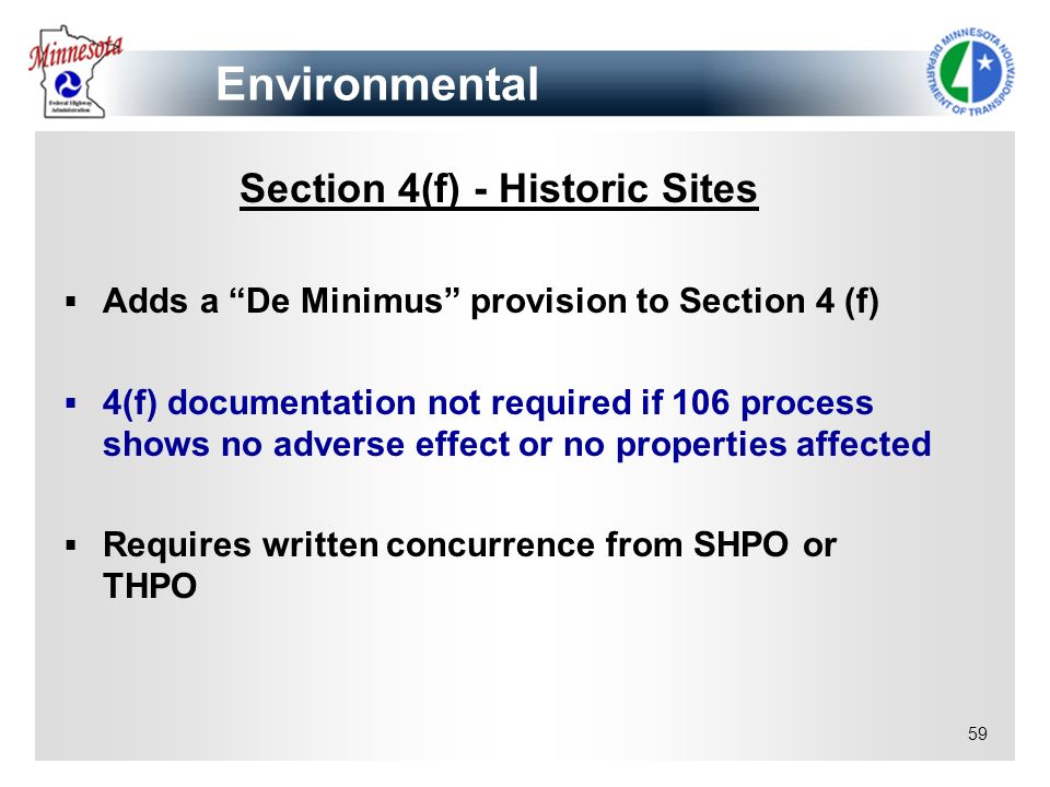 Section 4(f) - Historic Sites