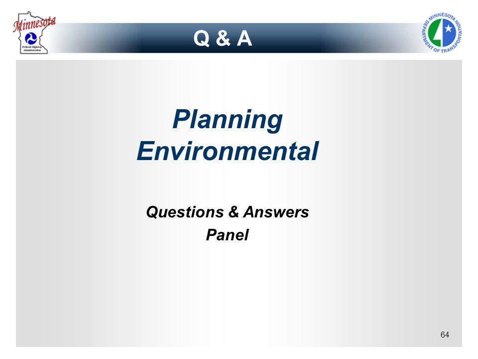 Planning Environmental