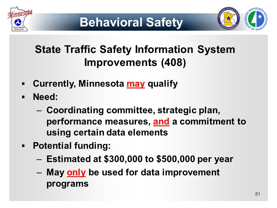 State Traffic Safety Information System Improvements (408)