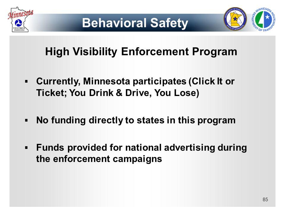 High Visibility Enforcement Program