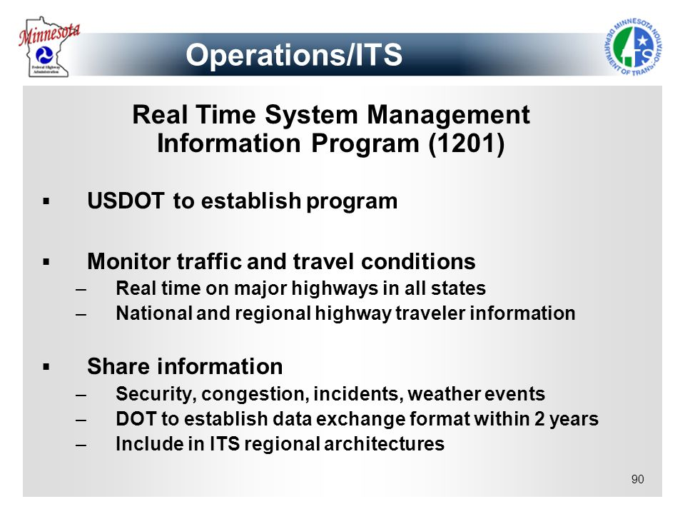 Real Time System Management Information Program (1201)