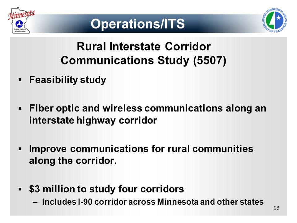 Rural Interstate Corridor Communications Study (5507)