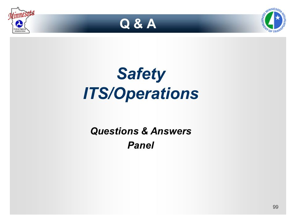 Safety ITS/Operations