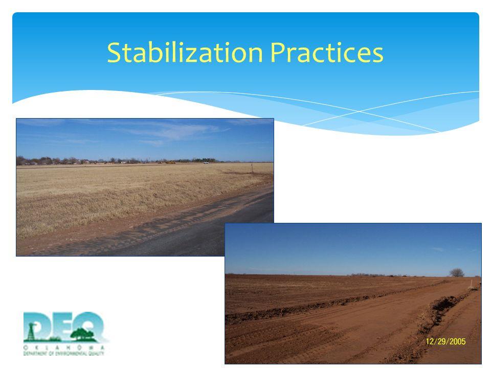 Stabilization Practices