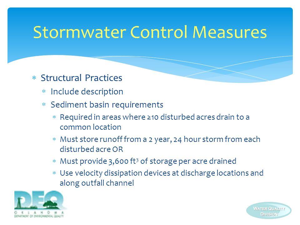 Stormwater Control Measures
