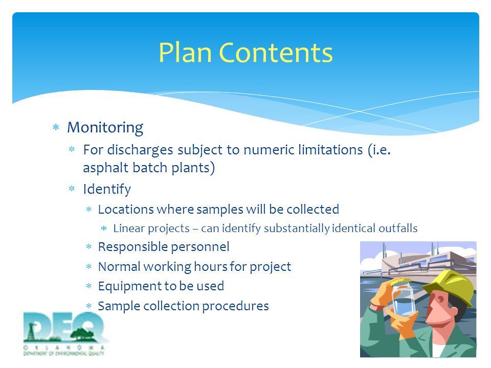 Plan Contents Monitoring