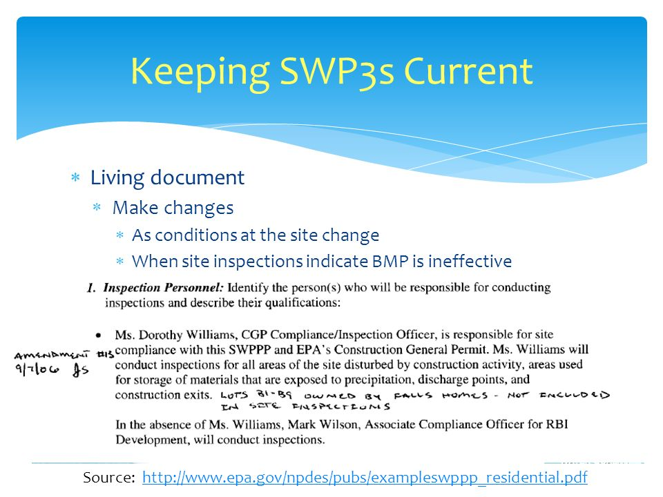 Source: http://www.epa.gov/npdes/pubs/exampleswppp_residential.pdf
