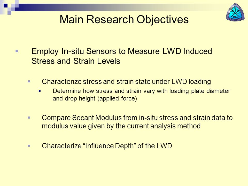 Main Research Objectives