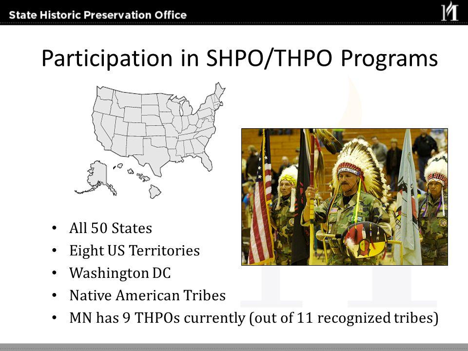 Participation in SHPO/THPO Programs