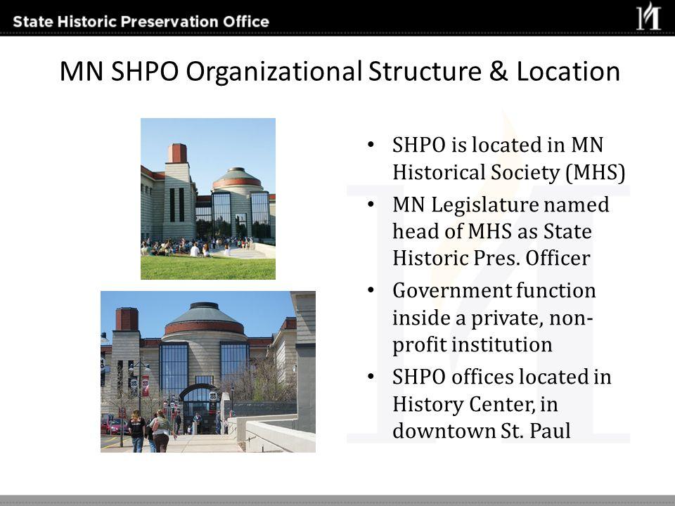 MN SHPO Organizational Structure & Location