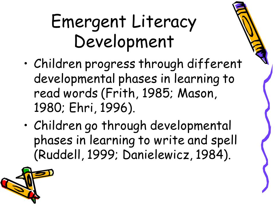 literacy development Early exposure to any language helps support a child's literacy development all  children, especially children who are deaf and hard of hearing (dhh), benefit.