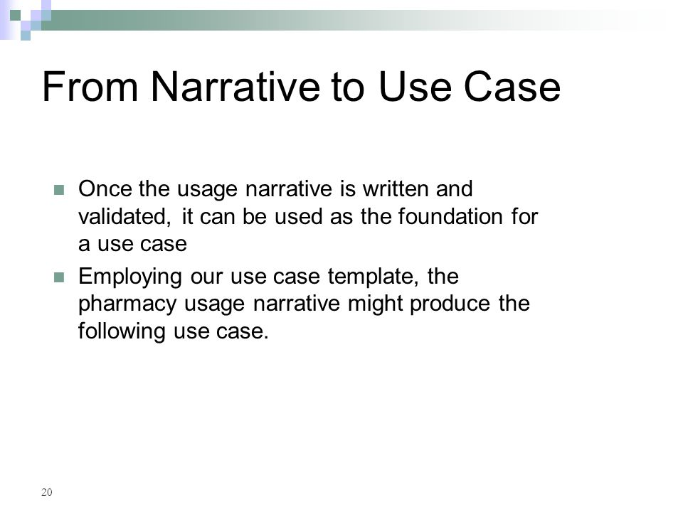 Use cases chapter 7 appendix a ppt video online download for Use case narrative template doc