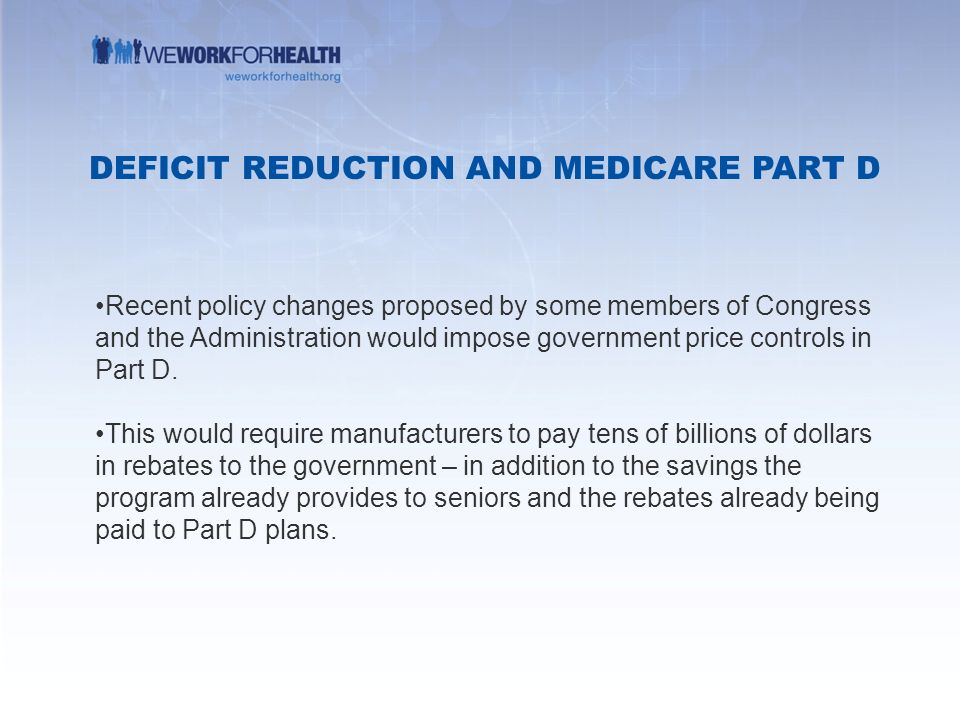 Medicare part d ppt video online download deficit reduction and medicare part d ccuart Gallery