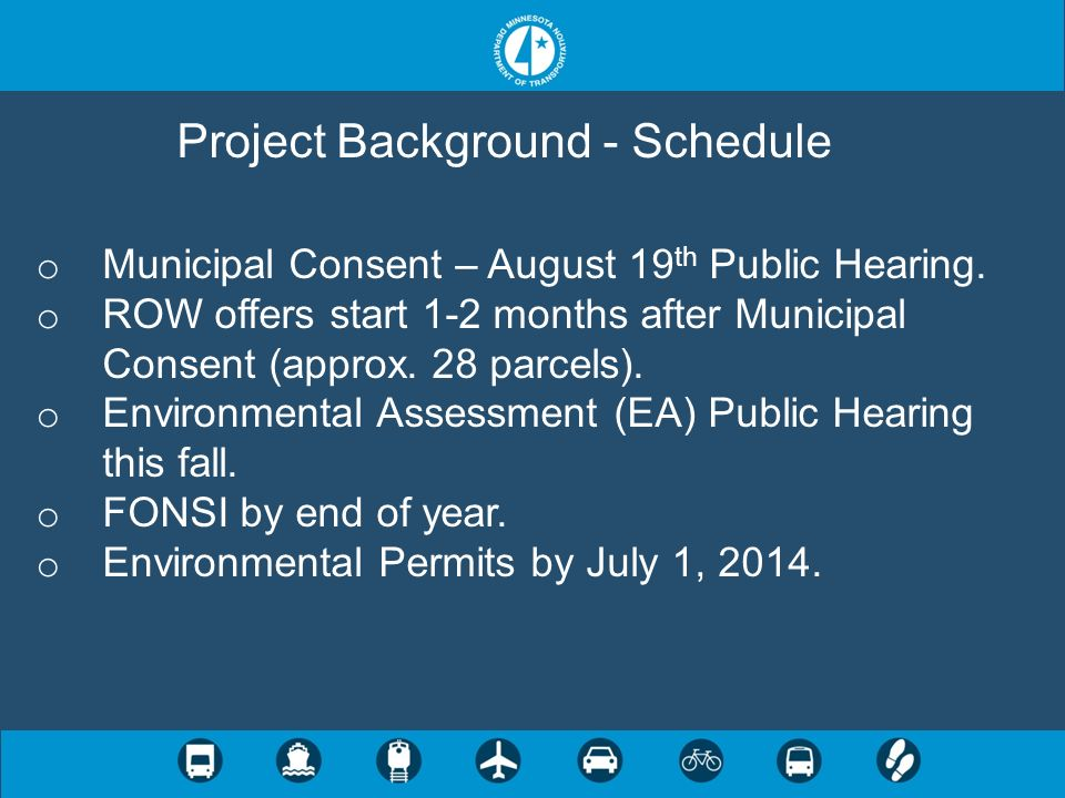 Project Background - Schedule