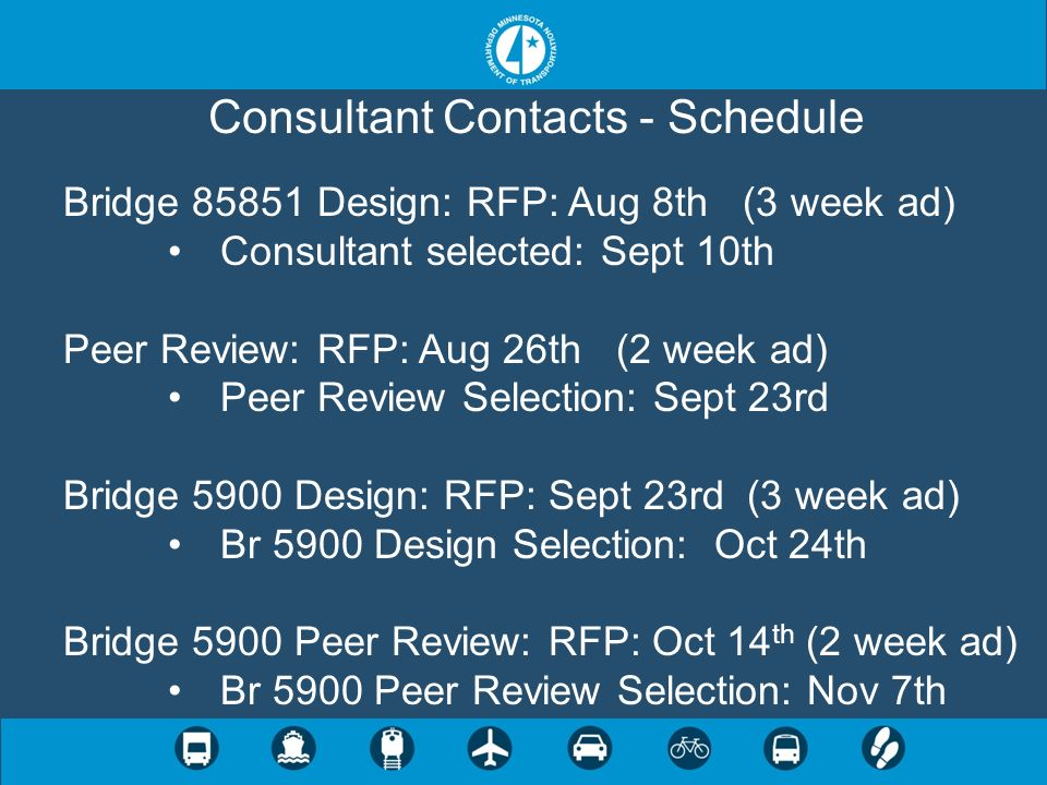 Consultant Contacts - Schedule